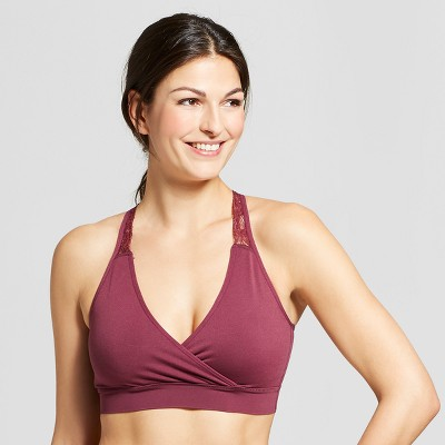 Women's Nursing Seamless Crossover 2pk - Gilligan & O'Malley™ Burgundy Air - S