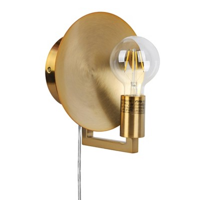 Sconce Reflector Lamp (Includes LED Light Bulb) Brass - Project 62™