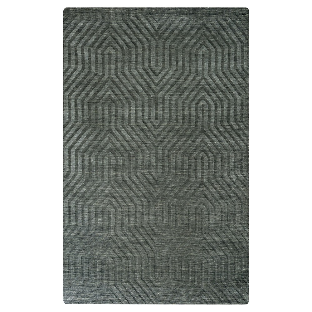 8'X10' Solid Area Rug Gray - Rizzy Home
