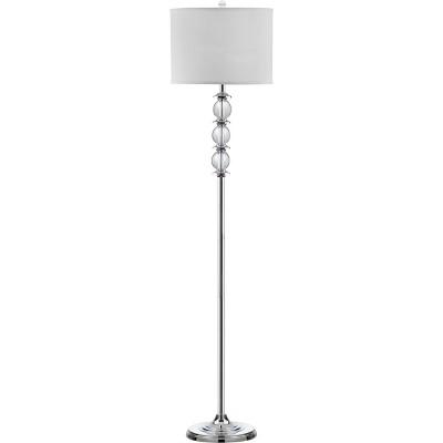 """60"""" Riga Floor Lamp Clear/Chrome (Includes CFL Light Bulb) - Safavieh"""