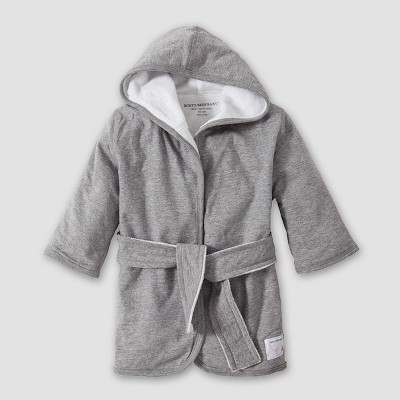 Burt's Bees Baby Organic Cotton Hooded Robe - Heather Gray One Size