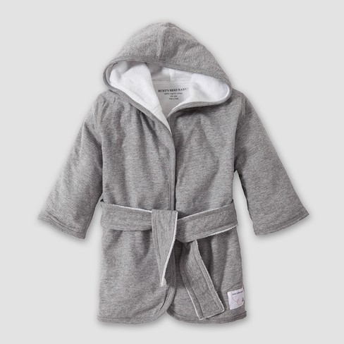 Burt's Bees Baby Organic Cotton Hooded Robe - Heather Gray One Size - image 1 of 1