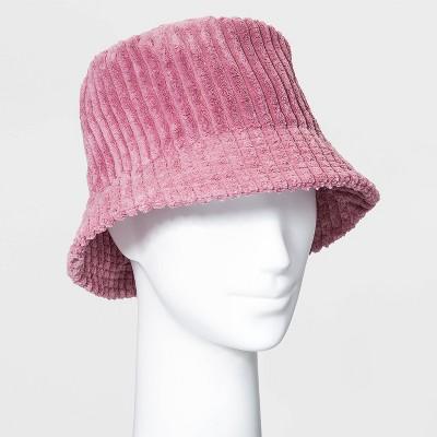 Women's Corduroy Bucket Hat - Wild Fable™ Light Pink