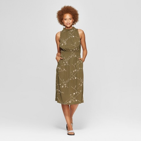 e6a403ad974a5 Women s Sleeveless Mock Turtleneck Midi Dress - Prologue™ Green XS   Target