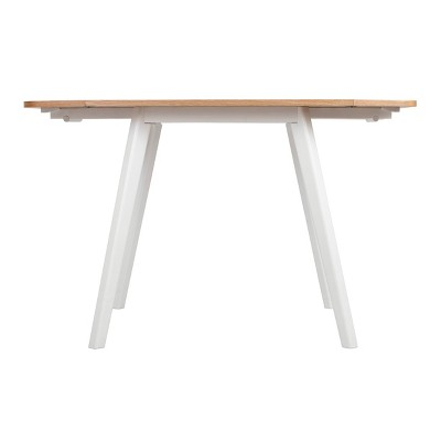 Abacus Extendable Dining Table Oak Brown/White - Universal Expert
