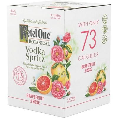 Ketel One Botanical Grapefruit & Rose Vodka Spritz - 4pk/355ml Cans