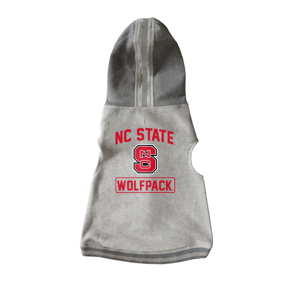 NC State Wolfpack Little Earth Pet Hooded Crewneck Football Shirt - XL, Multicolored