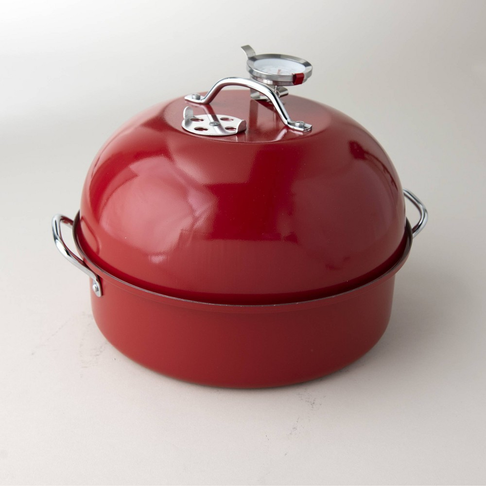 Image of Indoor/Outdoor Grill Kettle Smoker Red - Nordicware