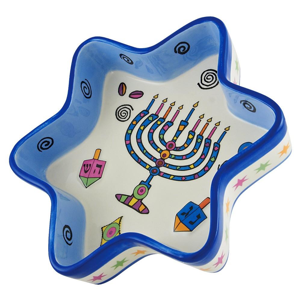 Hanukkah Whimsy Star Tidbit Server, Multi Colored
