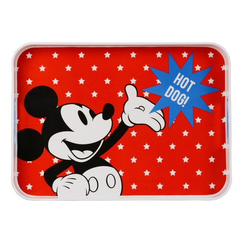 "Mickey Mouse & Friends Mickey Mouse Melamine Serving Tray 19"" x 13.5"" - Red/Blue - image 1 of 2"