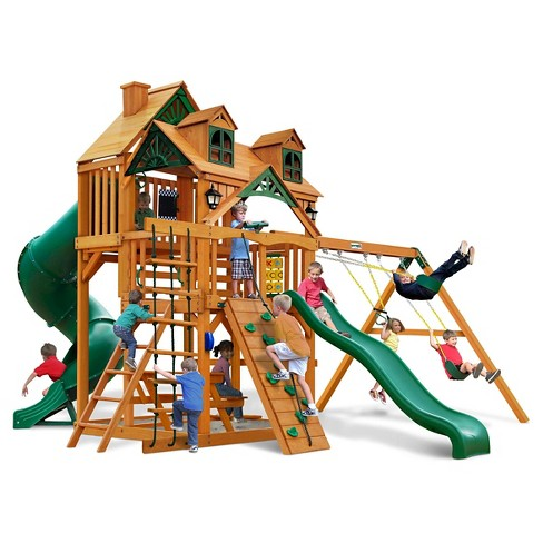 Gorilla Playsets Malibu Deluxe I Swing Set With Amber Target