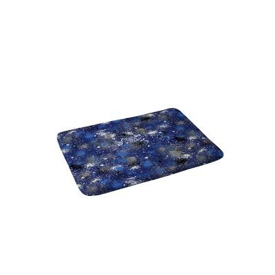 Ninola Design Ink splatter Night Bath Mat Blue - Deny Designs