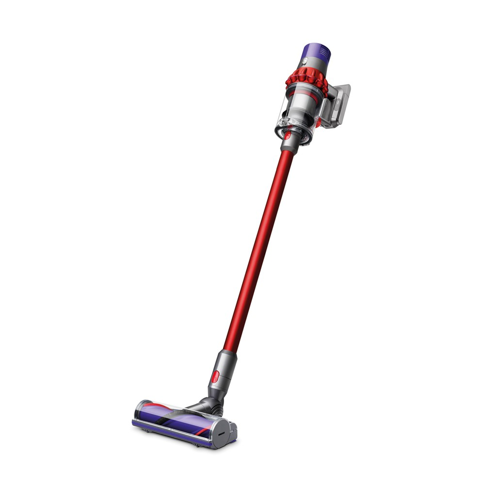Image of Dyson Cyclone V10 Motorhead Cord-free Vacuum - Iron/Red
