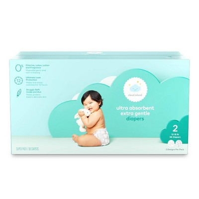 Club Pack Diapers - Size 2 (96ct)- Cloud Island™