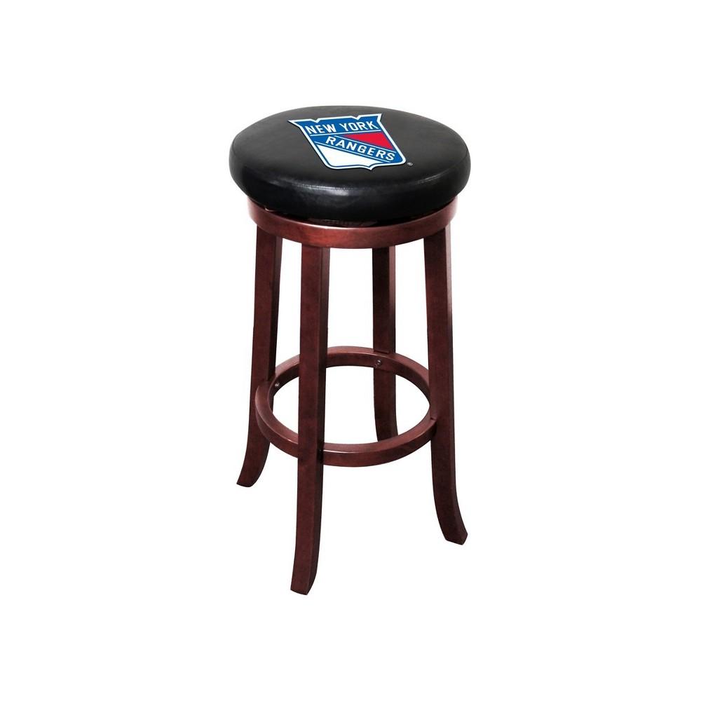 NHL New York Rangers Wooden Bar Stool