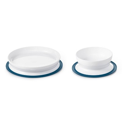 OXO TOT Toddler Plate and Bowl Set - Navy