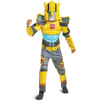 Kids' Transformers Bumblebee Halloween Costume Muscle Jumpsuit