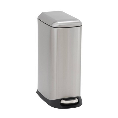 Household Essentials 20L Design Trend Narrow Step Trash Can Stainless Steel