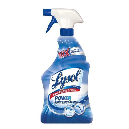 Lysol Power Bathroom Cleaner Soap Scum & Shine - 28oz - image 1 of 4