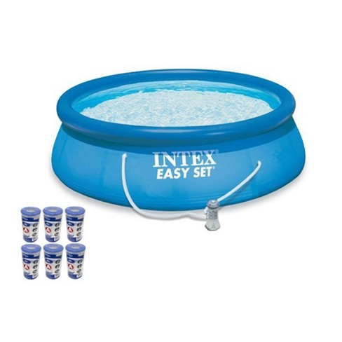 Intex 15ft x 48in Easy Set Swimming Pool Kit w/ 1000 GPH GFCI Filter Pump | - image 1 of 6