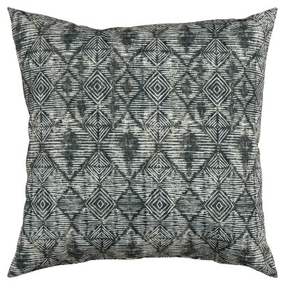 """22""""x22"""" Oversize Poly-Filled Diamond Indoor/Outdoor Square Throw Pillow - Rizzy Home"""
