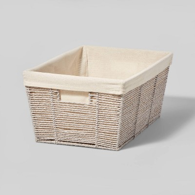 """17'' x 12"""" x 8"""" Twisted Paper Rope Large Tapered Basket - Threshold™"""
