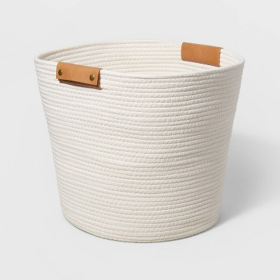 Decorative Coiled Rope Floor Basket White - Threshold™