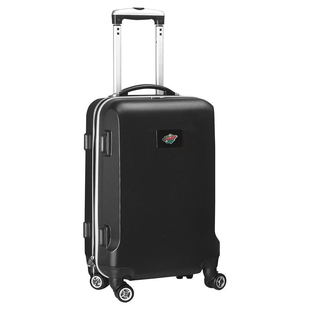 NHL Mojo Minnesota Wild Hardcase Spinner Carry On Suitcase - Black