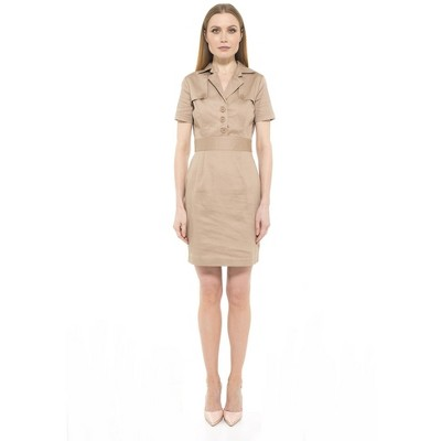 Alexia Admor Cadet Cap Sleeve Trench Dress