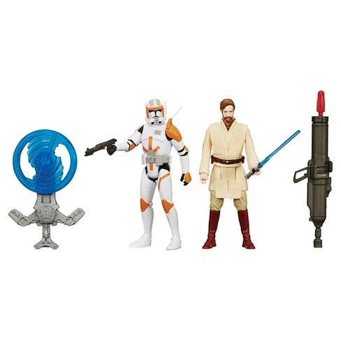 Star Wars Episode III 3.75-Inch Figure 2-Pack Desert Mission Obi-Wan and Commander Cody - image 1 of 13