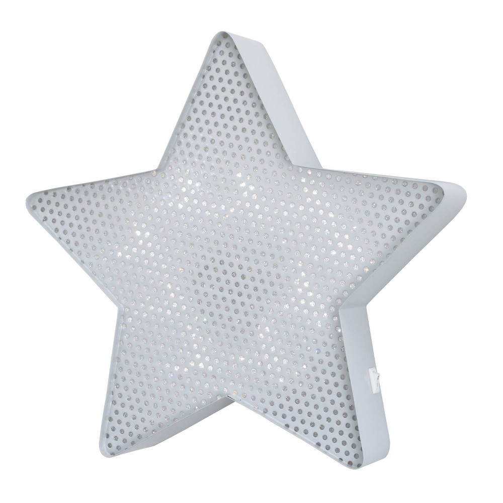 Image of Nojo Lighted Room Star Decorative Wall Sculpture Gray