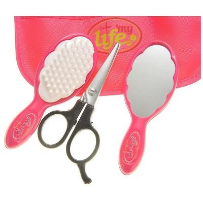 Insten Cute Little Girls Beauty Salon Fashion Girls Playset with Mirror, Hairdryer, Curling Iron & Accessories, Pretend Toys for Kids