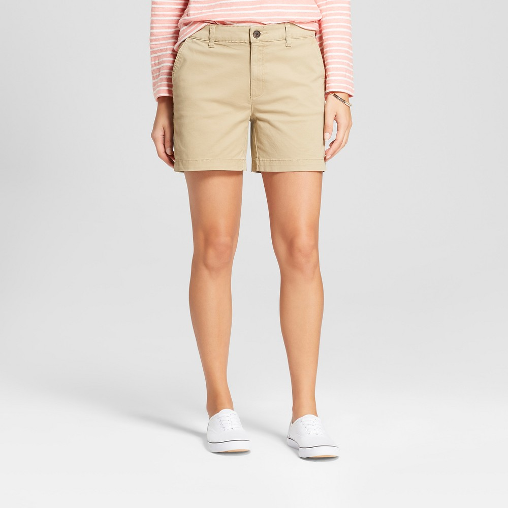 Women's 5 Chino Shorts - A New Day Tan 12