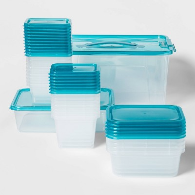 50pc Food Storage Container Set Teal - Room Essentials™