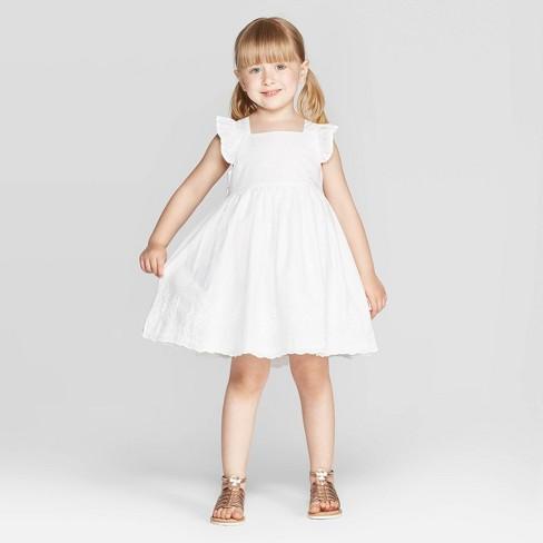 d6e1c025084 ... Toddler Girls  Tank Top Eyelet Dress - White. Shop all OshKosh B gosh