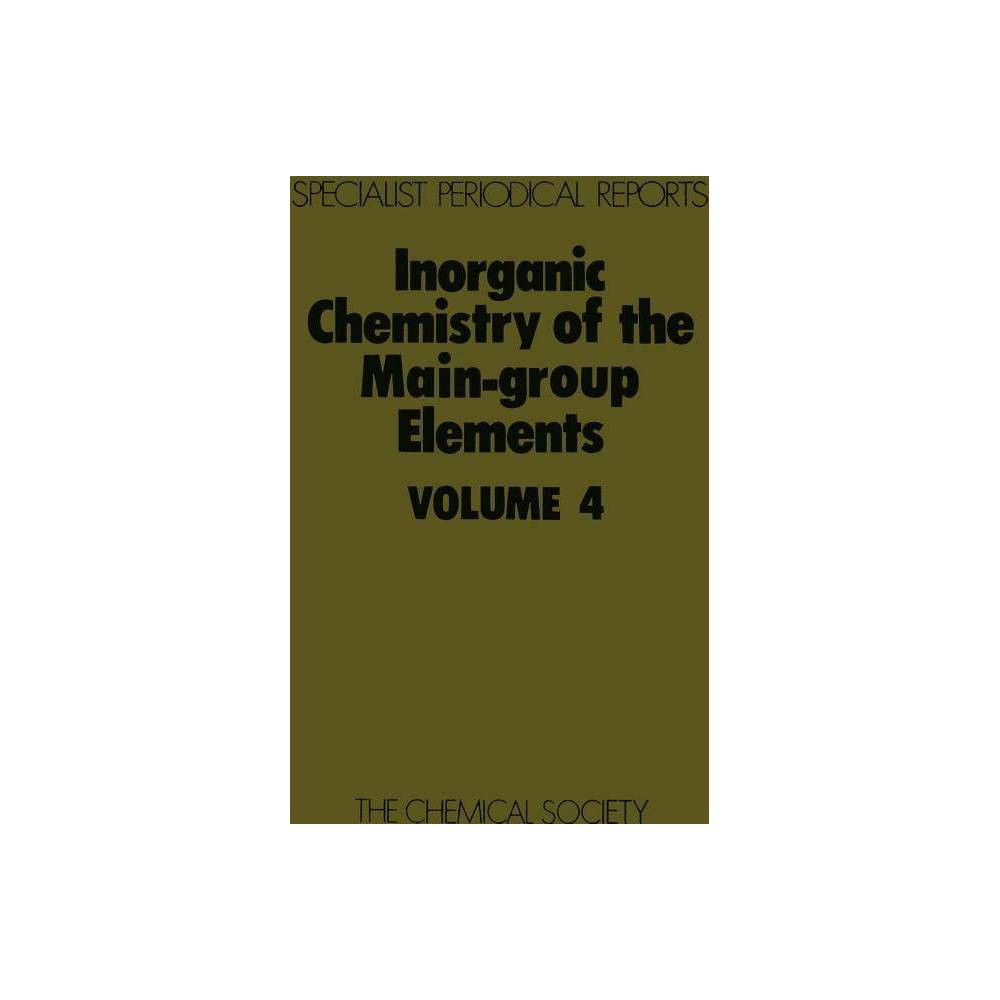 Inorganic Chemistry of the Main-Group Elements - (Specialist Periodical Reports) (Hardcover)