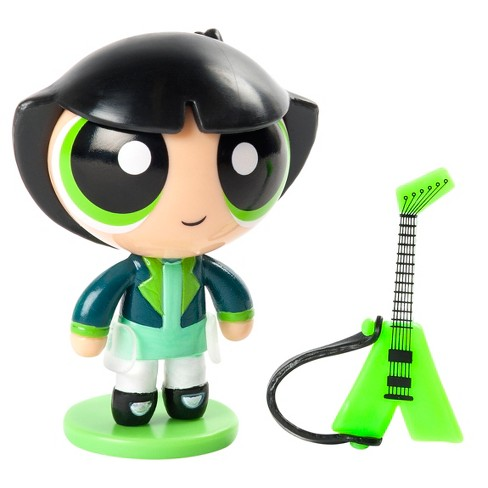 """The Powerpuff Girls 2"""" Action Doll with Stand Buttercup with Guitar by Spin Master - image 1 of 2"""
