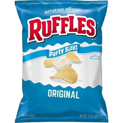 Ruffles Original Flavor Party Size Ridged Potato Chips - 13.5oz