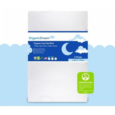 Organic Dream Certified Organic Cool-Gel Premier Mini 2-Stage Crib & Toddler Mattress