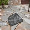 30lb Isla Fan-Shaped Resin Umbrella Base Brushed Black - Christopher Knight Home - image 2 of 4