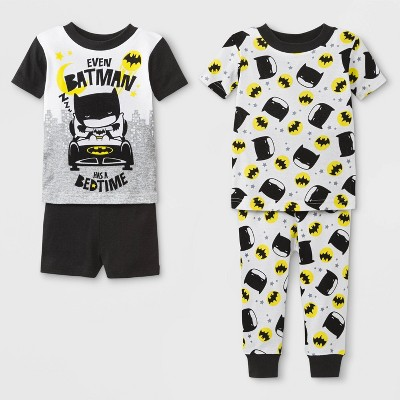 Baby Boys' Justice League 4pc Pajama Set - Black 12M
