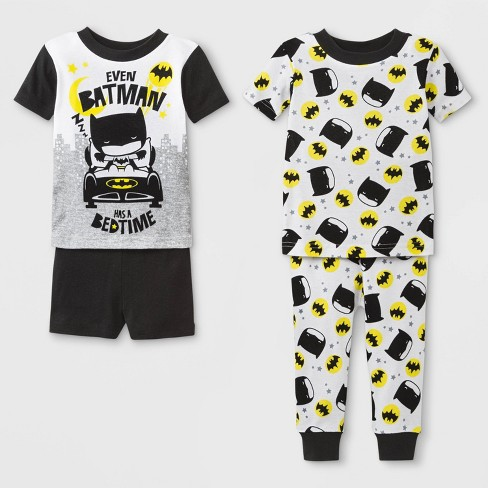 89fd0136acb8 Baby Boys  Justice League 4pc Pajama Set - Black   Target