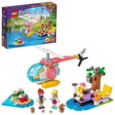 LEGO Friends Vet Clinic Rescue Helicopter Building Kit 41692