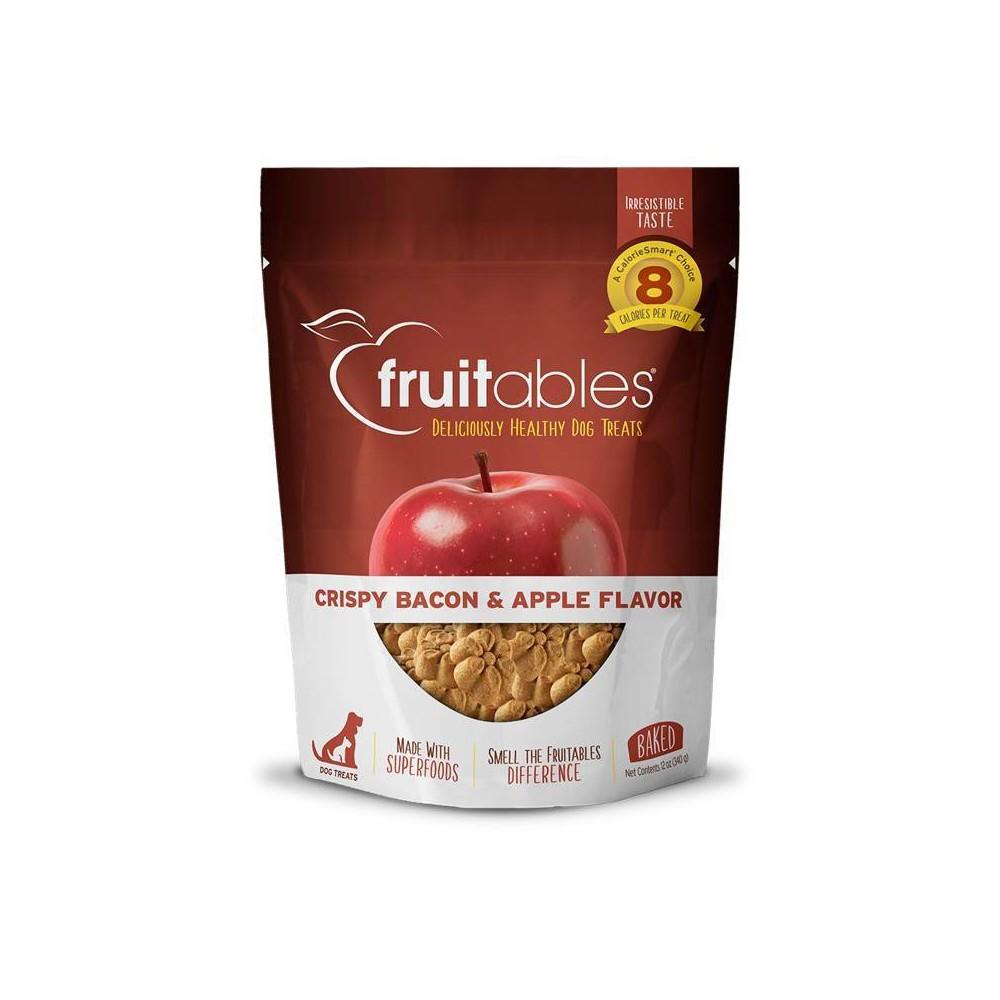 Fruitables Baked Crispy Bacon And Apple Dog Treats 12oz