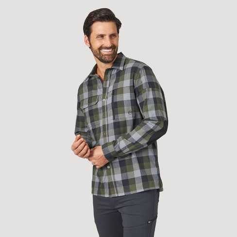 Wrangler Men's Button-Down Shirt - Gray - image 1 of 4