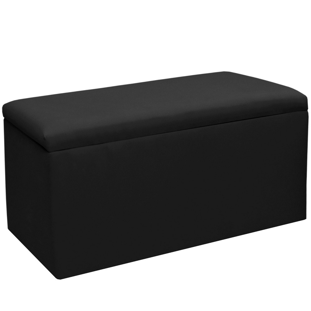 Image of Kids Storage Bench Duck Black - Skyline Furniture