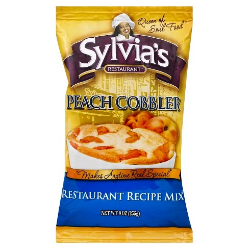Sylvia's Peach Cobbler Crumb Cake Mix Pouch - 9oz - image 1 of 1