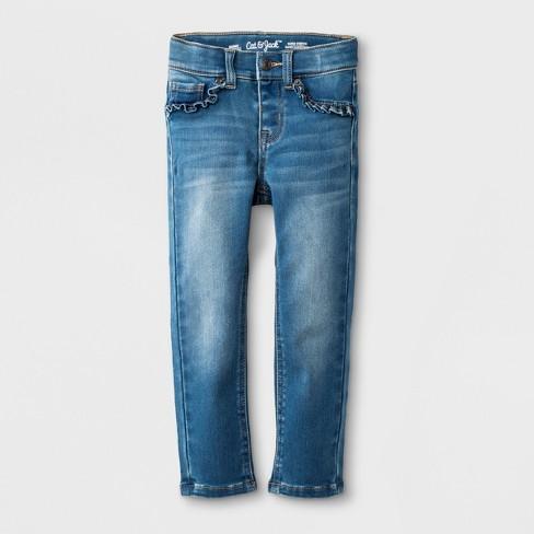 Toddler Girls' Jeans - Cat & Jack™ Medium Blue - image 1 of 5