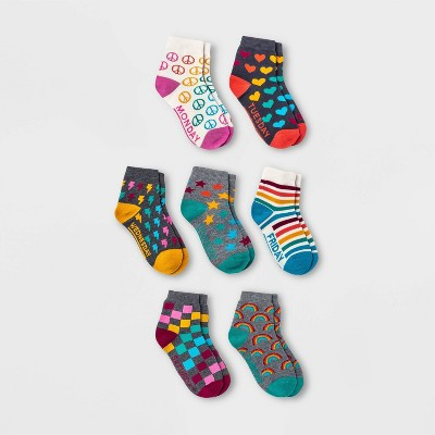 Girls' 7pk Days of the Week Ankle Socks - Cat & Jack™