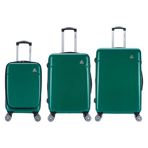 "InUSA Avila 3pc Hardside Spinner Luggage Set 20""& 24""& 28"" - Green - image 1 of 2"
